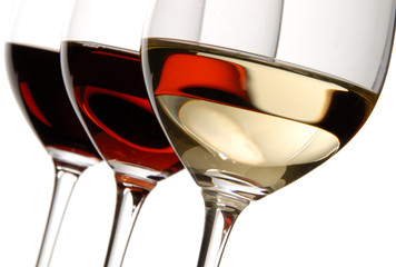 cotg wine glasses red and white