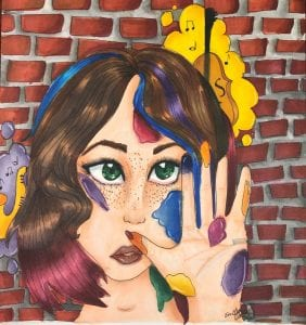 "Emily Harris, 3rd Place Jr. High, Lake Asbury Jr. High, 8th Grade, ""Mural of Expression"" Teacher - Cynthia R. Smith"