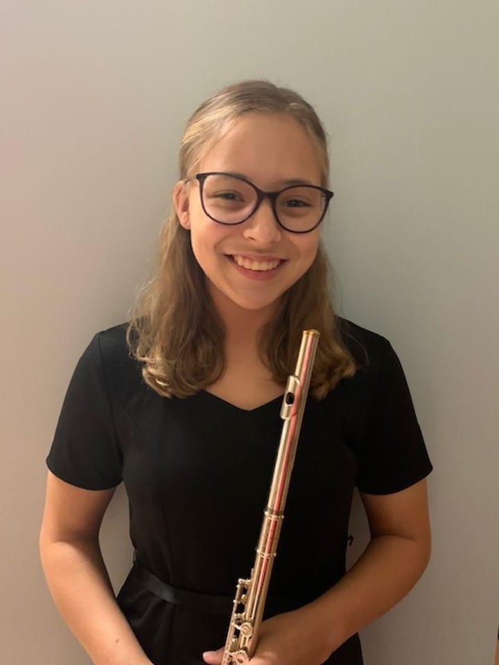 3rd Place (Tie) Instrumentalist – Anna Lively, Flute 9th Grade DASOTA – Teacher Kathleen James